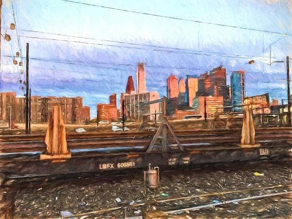 Photograph - Philly Train Tracks by Alice Gipson