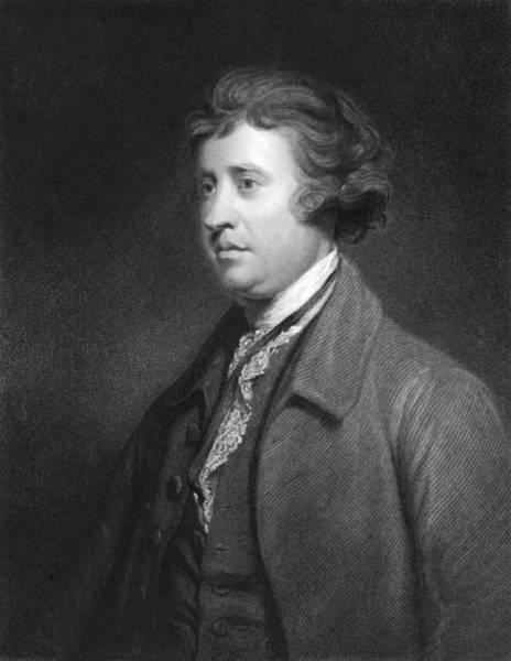 Pencil Sketch Photograph - Philosopher Edmund Burke by Underwood Archives