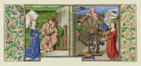 Wall Art - Painting - Philosophy Consoling Boethius And Fortune Turning The Wheel by Litz Collection