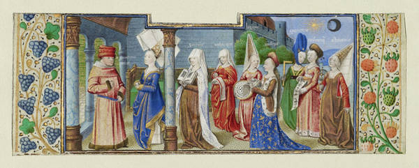 Wall Art - Painting - Philosophy Presenting The Seven Liberal Arts To Boethius by Litz Collection