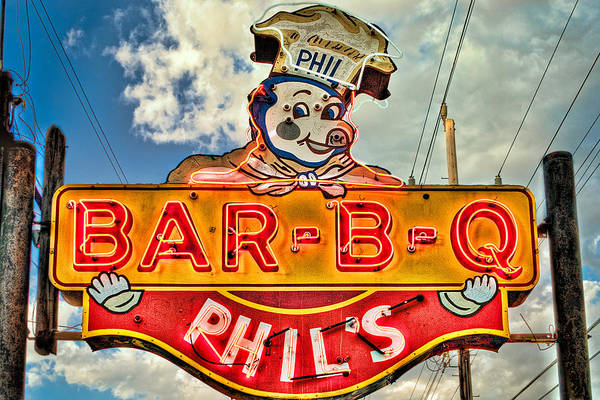 Photograph - Phils Barbeque by Robert  FERD Frank