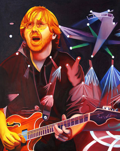 Wall Art - Painting - Trey Anastasio-phish Full Band Series by Joshua Morton