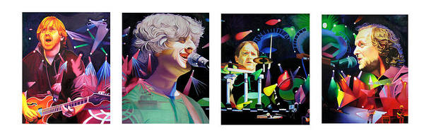 Joshua Wall Art - Painting - Phish Full Band by Joshua Morton