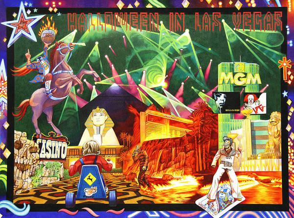 Wall Art - Drawing - Phish-halloween In Las Vegas by Joshua Morton