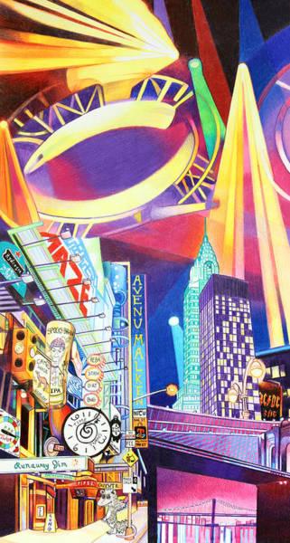 Wall Art - Drawing - Phish New Years In New York Left Panel by Joshua Morton