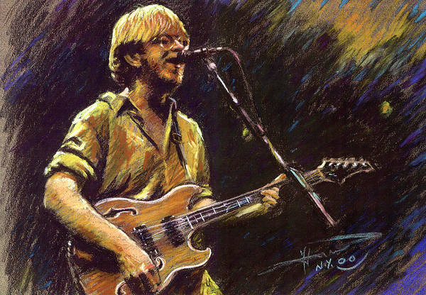 Hard Rock Wall Art - Pastel - Phish by Ylli Haruni