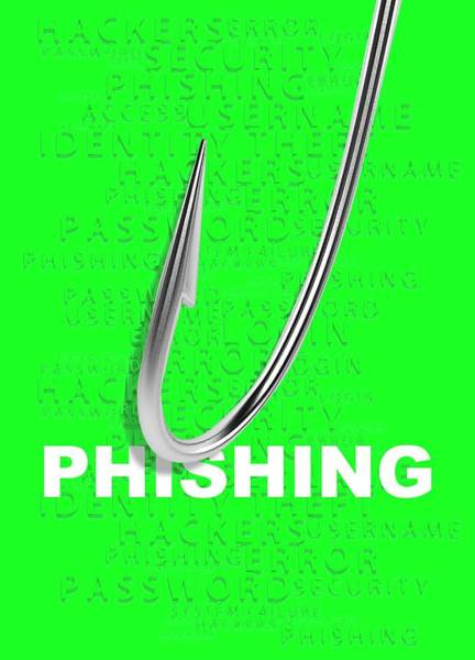 Wall Art - Photograph - Phishing Concept by Victor Habbick Visions/science Photo Library