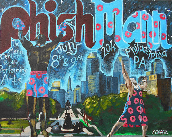 Live Music Painting - Phishmann by Kevin J Cooper Artwork