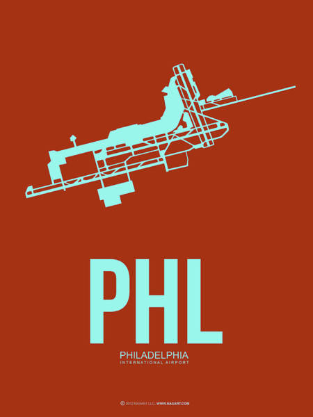 Wall Art - Digital Art - Phl Philadelphia Airport Poster 2 by Naxart Studio