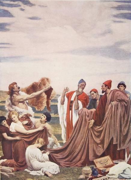 Briton Wall Art - Drawing - Phoenicians Trading With Early Britons by Frederic Leighton