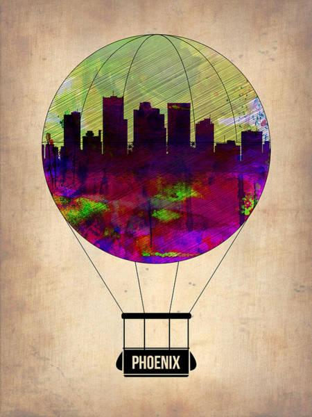 Phoenix Arizona Wall Art - Painting - Phoenix Air Balloon  by Naxart Studio
