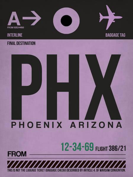 Phoenix Arizona Wall Art - Digital Art - Phoenix Airport Poster 1 by Naxart Studio