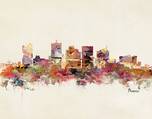 Phoenix Arizona Wall Art - Painting - Phoenix Arizona by Bri Buckley
