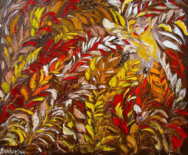 Phoenix Flower Painting Art Print