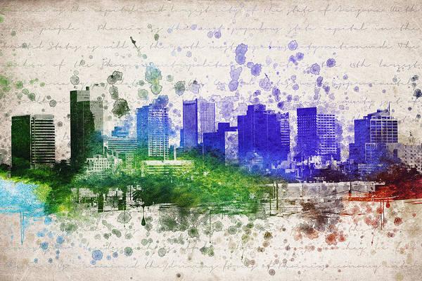 City Scape Digital Art - Phoenix In Color by Aged Pixel