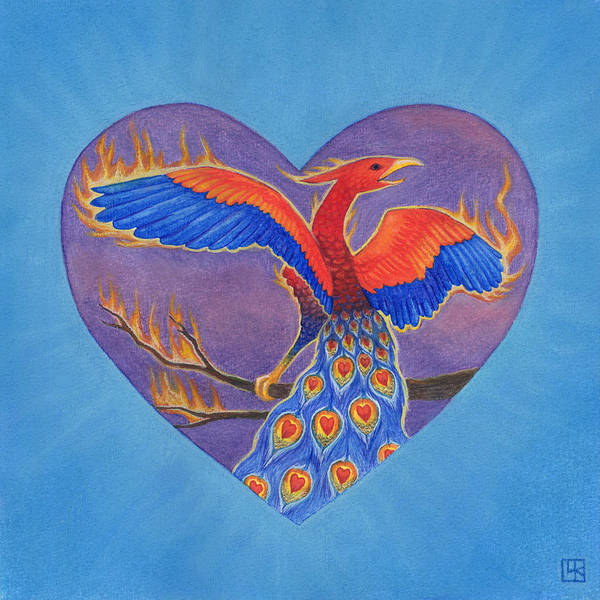 Ashes Painting - Phoenix by Lisa Kretchman