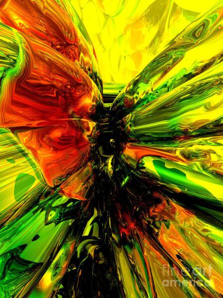Reborn Wall Art - Digital Art - Phoenix Rising Abstract by Alexander Butler