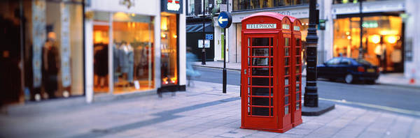 London Phone Booth Wall Art - Photograph - Phone Booth, London, England, United by Panoramic Images