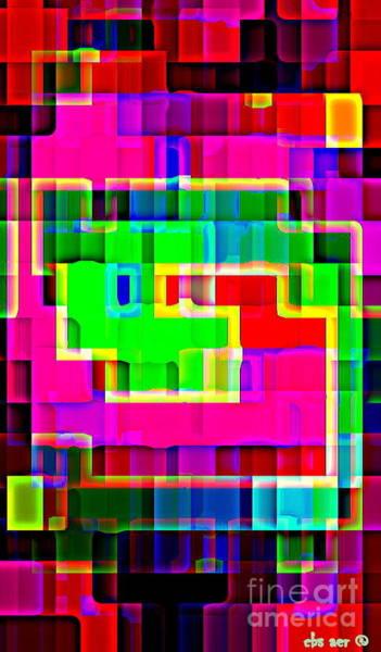 Painting - Phone Case Art Intricate Colorful Dynamic Abstract City Geometric Designs By Carole Spandau 131 Cbs  by Carole Spandau