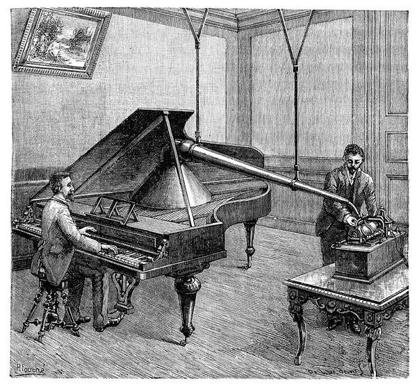 Wall Art - Photograph - Phonograph Piano Recordings by Science Photo Library