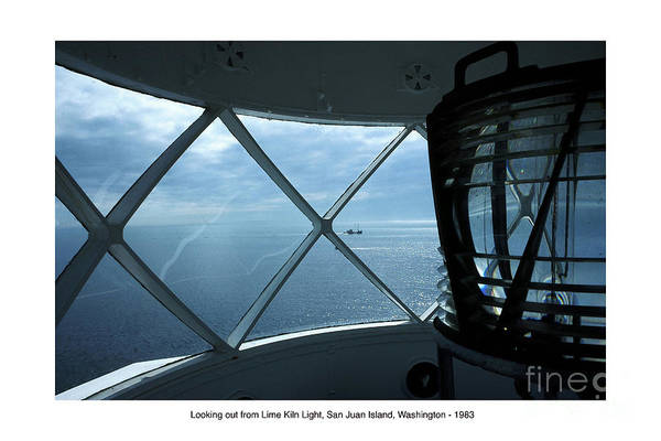 Photograph - Photo Of Fresnel Lenses Lime Kiln Point Lighthouse San Juan Island  Wash. 1983 by California Views Archives Mr Pat Hathaway Archives