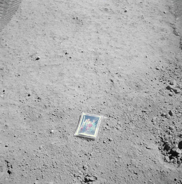 Wall Art - Photograph - Photograph Left On The Moon by Nasa/science Photo Library