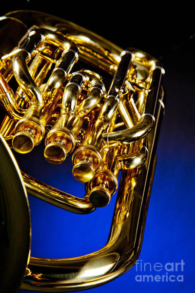 Photograph - Photograph Of A Music Tuba Brass Instrument In Color 3284.02 by M K Miller