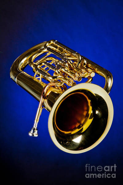 Wall Art - Photograph - Photograph Of Bass Tuba Brass Instrument In Color 3393.02 by M K Miller