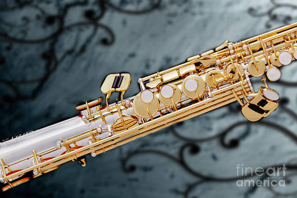 Photograph - Photograph Of Classic Soprano Saxophone 3349.02 by M K Miller