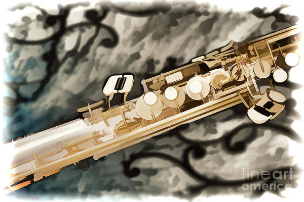 Painting - Photograph Of Classic Soprano Saxophone Painting 3348.02 by M K Miller
