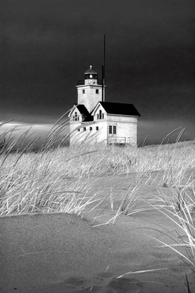 Holland State Park Photograph - Photograph Of The Lighthouse Big Red In Holland Michigan by Randall Nyhof