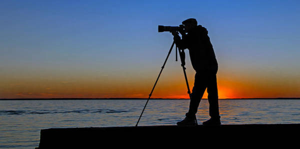 Photograph - Photographer At Sunset by Jerry Gammon