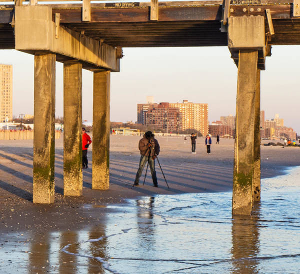 Photograph - Photographer Under The Pier by Frank Winters