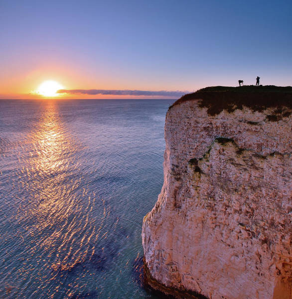 Silhouette Photograph - Photographers At Dawn. Studland Dorset by Andreas Jones