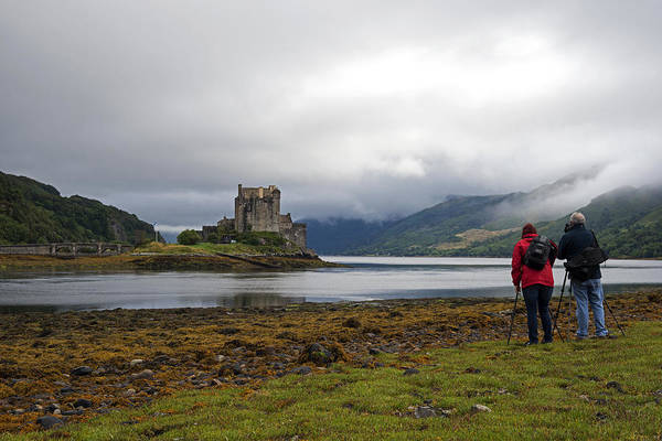 Photograph - Photographers At Eilean Dunan Castel Scotland Uk by Dubi Roman