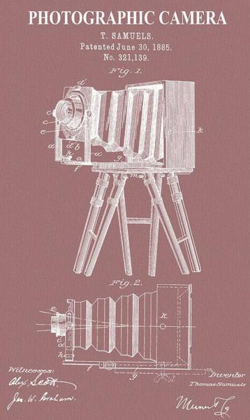 Speed Mixed Media - Photographic Camera Patent On Canvas by Dan Sproul