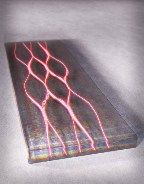 Particle Physics Wall Art - Photograph - Photon Waveguide by Equinox Graphics