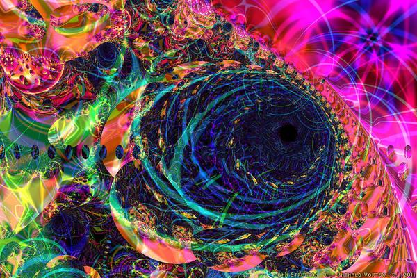 Digital Art - Phthalo Vortex  by Ann Stretton