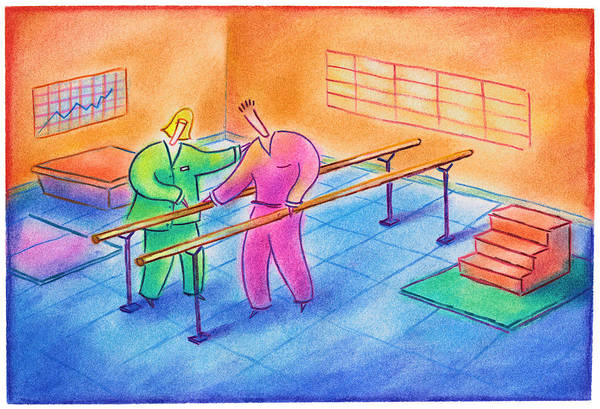 Physical Therapy Patient Art Print by Craig Smallish
