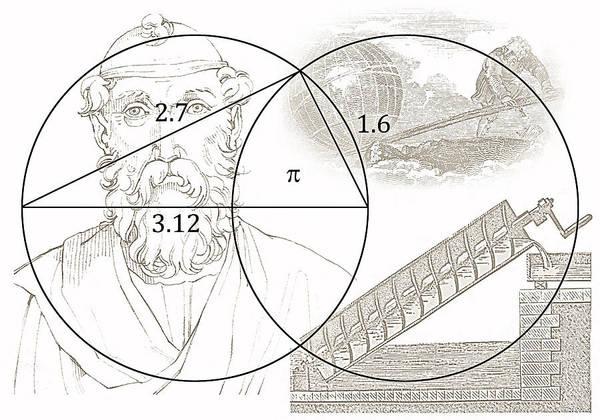 Cosmology Digital Art - Pi Archimedes by Daniel Hagerman