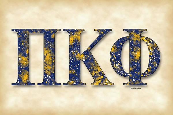Charleston Digital Art - Pi Kappa Phi - Parchment by Stephen Younts
