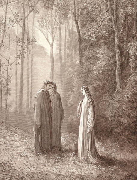 Dor Drawing - Pia In Purgatory, By Gustave DorÉ. Dore by Litz Collection