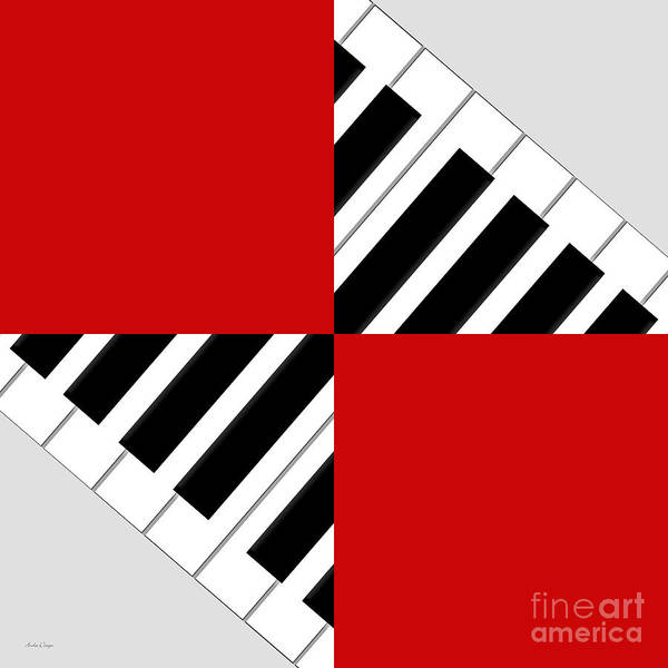 Digital Art - Piano Abstract 2 by Andee Design