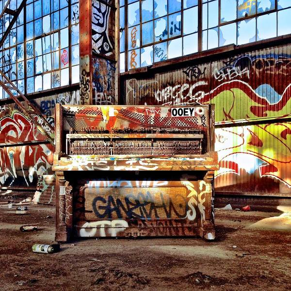 Wall Art - Photograph - Piano In Warehouse by Julie Gebhardt