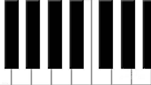 Digital Art - Piano Keys by Andee Design