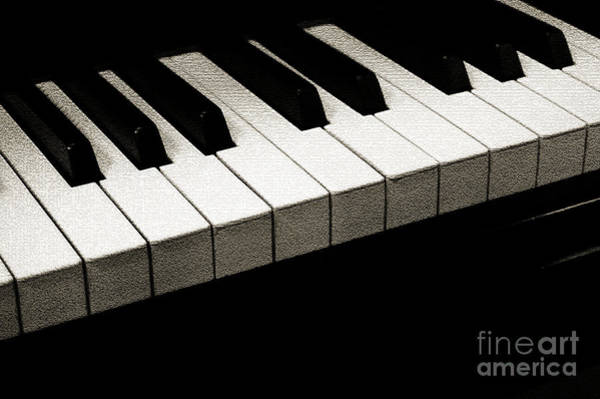 Photograph - Piano Keys Coffee Tone by Andee Design