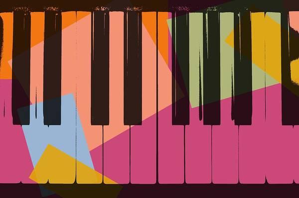 Grand Piano Digital Art - Piano Keys Pop Art by Dan Sproul