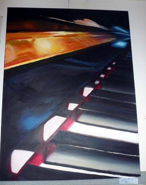Wall Art - Painting - Piano by Lauren  Pecor