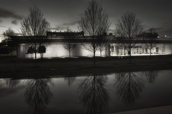 Pavilion Photograph - Piano Pavilion Bw Reflections by Joan Carroll