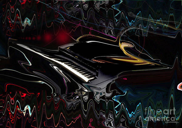 Wall Art - Painting - Piano Sound by Christian Simonian